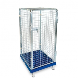Antidiebstahlbehälter mit Kunststoffboden, LxBxH 815 x 724 x 1550 mm, Tragkraft bis 500 kg