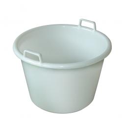 Rundbehälter, 50 Liter, Ø 550/380 mm, Höhe 400 mm, weiß