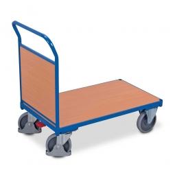 Stirnwandwagen mit Holzwand, LxBxH 1120 x 700 x 990 mm, Tragkraft 500 kg