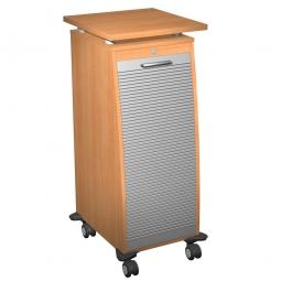 Bürocaddy mit Stahlschubladen, Buche, BxTxH 515x600x1155 mm