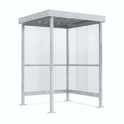 Raucher- und Pausenunterstand, Rahmen verzinkt, BxTxH 1720 x 1580 x 2360 mm