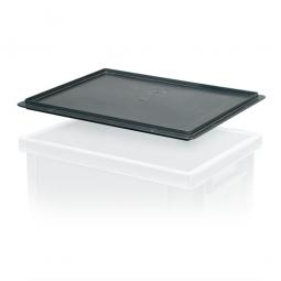 Auflagedeckel für leitfähige Stapelbehälter, LxB 400x300 mm, schwarz