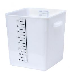 Platzsparbehälter, viereckig, LxBxH 290 x 265 x 300 mm, 18 Liter, weiß