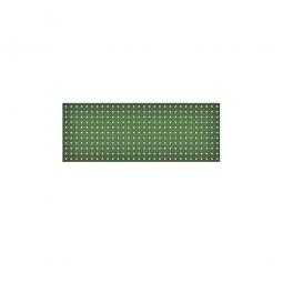 System-Lochplatte, BxH 1200x450 mm, Aus 1,25 mm Stahlblech, kunststoffbeschichtet in resedagrün