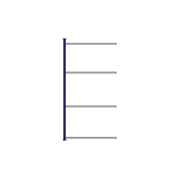 Fachboden-Steck-Anbauregal, kunststoffbeschichtet, HxBxT 2000x1035x415 mm, mit 4 Fachböden