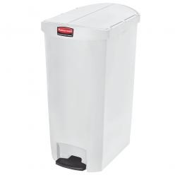 Tretabfalleimer SlimJim, 68 Liter, weiß, LxBxH 562x374x782 mm, Polyethylen, Pedal an der Schmalseite