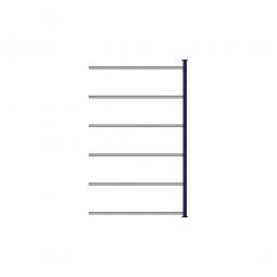 Ordner-Steck-Anbauregal, doppelseitige Ausführung, HxBxT 2000x1235x630(2x315) mm, Oberfläche kunststoffbeschichtet