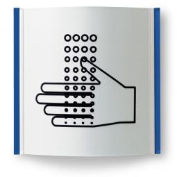 """Türschild """"Paris"""", enzianblau RAL 5010, 155x155 mm"""