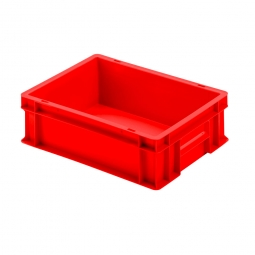 Euro-Geschirrkasten mit 2 Griffleisten, PP, LxBxH 400 x 300 x 120 mm, 11 Liter, rot