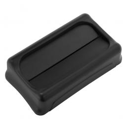 Schwingdeckel für Abfallbehälter, schwarz, BxTxH 294 x 523 x 127 mm, aus stoßfestem Kunststoff