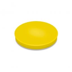 Haftmagnete, gelb, Durchmesser 24 mm, Haftkraft 300 g, Paket=10 Magnete