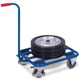 Magazinwagen mit Schiebebügel, Außenmaße LxBxH 874x500x877 mm, Tragkraft 250 kg