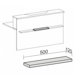"""Taschenablage für Empfangstheke """"SUPERIOR"""", gerade, BxT 500x120 mm, lichtgrau"""
