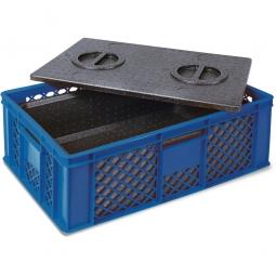 Eurobehälter mit EPP-Isolierbox, LxBxH 600 x 400 x 320 mm, 20 Liter, blau