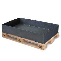 Sicherheits-Auffangwanne aus Kunststoff, schwarz, LxBxH 1200 x 800 x 215 mm, Tragkraft 1000 kg
