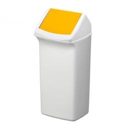 Abfall- und Wertstoffsammler mit Schwingdeckel, BxTxH 366 x 320 x 747 mm, 40 Liter, gelb