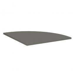 Viertelkreis-Verkettungsplatte 90° PREMIUM, Gaphit/Silber, BxT 800x800 mm