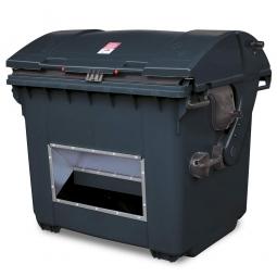 Streugutbehälter mit Entnahmeöffnung, anthrazitgrau, 1100 Liter, BxTxH 1365 x 1060 x 1450 mm