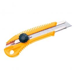 Cutter-Messer, 18 mm Klinge, Aus Kunststoff mit Schraubarretierung