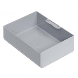 Einsatzkasten für Stapelbehälter 400x300 mm, LxBxH 128 x 178 x 55 mm, Farbe grau