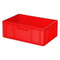 Eurobehälter mit 2 Griffleisten, LxBxH 600 x 400 x 220 mm, 43 Liter, rot