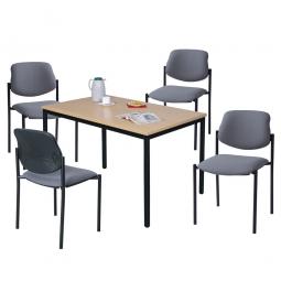 """Tischgruppe """"Relax"""", bestehend aus 4 Polsterstühlen und 1 Tisch"""