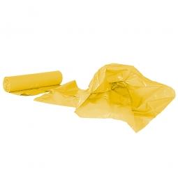Müllsäcke 120 Liter, Stärke 40 µm, VE=250 Stück, BxH 700x1100 mm, Polyethylen-Kunststoff (PE), gelb