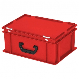 Euro-Koffer, LxBxH 400x300x180 mm, rot, mit 1 Tragegriff auf einer Längsseite