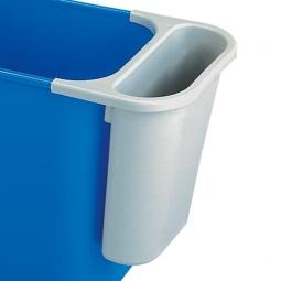 Zusatzbehälter, 4,5 Liter, grau, BxTxH 265x120x295 mm, Polyethylen