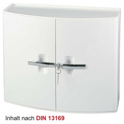 Verbandschrank aus Kunststoff, weiß, BxTxH 385x180x325 mm