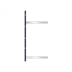 Kragarm-Anbauregal, leichte Ausführung, einseitige Nutzung, BxTxH 1060x500x2480 mm, Gesamttragkraft 875 kg