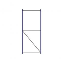 Regalrahmen für Weitspannregale, Stecksystem, fertig montiert, TxH 1000 x 2500 mm, Rahmenbreite 40 mm