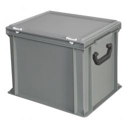 Euro-Koffer, LxBxH 400x300x330 mm, grau, mit 2 Tragegriffen auf den Stirnseiten