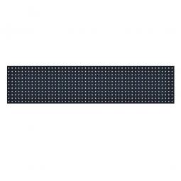 System-Lochplatte, BxH 2000x450 mm, Aus 1,25 mm Stahlblech, kunststoffbeschichtet in anthrazitgrau