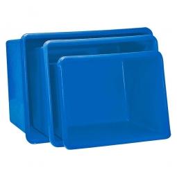 Rechteckbehälter aus GFK, Inhalt 200 Liter, blau, LxBxH 880 x 570 x 600 mm, Gewicht 8 kg