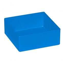 Einsatzkasten für Schubladen, blau, LxBxH 99x99x40 mm, Polystyrol-Kunststoff (PS)