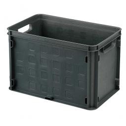 Leichter Stapelbehälter, LxBxH 406 x 256 x 260 mm, 26 Liter, grau