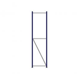 Regalrahmen für Weitspannregale, Stecksystem, fertig montiert, TxH 600 x 2500 mm, Rahmenbreite 40 mm