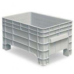 Volumenbox mit 4 Füßen, 215 Liter, LxBxH 1030 x 630 x 555 mm, grau