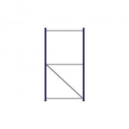 Regalrahmen für Weitspannregale, Stecksystem, fertig montiert, TxH 1000 x 2000 mm, Rahmenbreite 40 mm