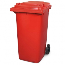 Müllbehälter, 240 Liter, rot, BxTxH 580x730x1075 mm, Polyethylen (PE-HD)