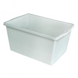 Kunststoffwanne mit umlaufendem U-Rand, 60 Liter, LxBxH 640 x 430 x 330 mm, weiß