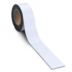 Magnetschilder, 10 m Rolle, Höhe: 20 mm, weiß, Materialstärke: 0,9 mm, für alle magnetischen Untergründe