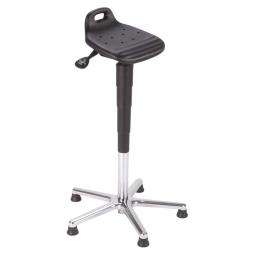 Stehhilfe, Gestell aus Stahlrohr, schwarz, Sitz aus pflegeleichtem, strapazierfähigem PU-Schaum