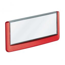 Türschild aus ABS-Kunststoff mit aufklappbarem Sichtfenster, BxH 149x52,5 mm, rot