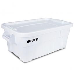 Eckiger Mehrzweckbehälter von Rubbermaid mit Schnappverschluss-Deckel, Inhalt 53 Liter, weiß