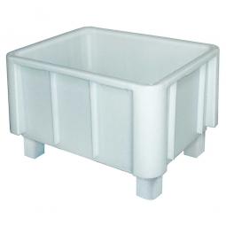 Schwerlast-Eurobehälter, LxBxH 800 x 600 x 510 mm, weiß, 4 Füße