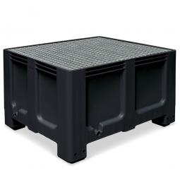Abtropfbecken, Farbe anthrazit, Material PE-HD, Volumen 610 Liter, LxBxH 1200x1000x760 mm