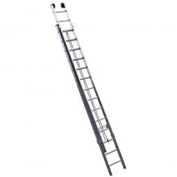 Aluminium-Seilzugleiter mit 2x 14 Sprossen, Leiterlänge min. 3727 mm, max. 6332 mm, Gewicht 16,1 kg