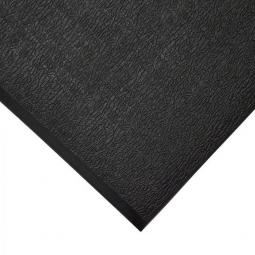 Bodenmatte, mit Strukturoberfläche, schwarz, LxB 1500x900 mm, Stärke 9 mm, Vinyl-Schaum-Belag